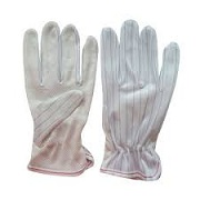 Electrostatic gloves fabric